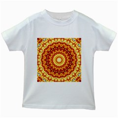 Powerful Love Mandala Kids White T Shirts