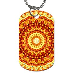 Powerful Love Mandala Dog Tag (one Side)