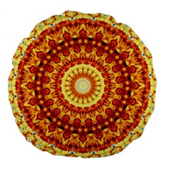 Powerful Love Mandala Large 18  Premium Round Cushions