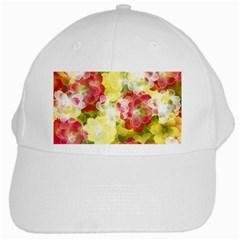 Flower Power White Cap
