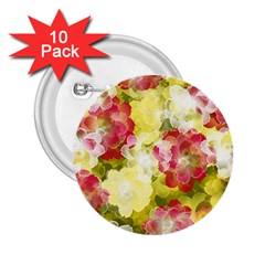 Flower Power 2 25  Buttons (10 Pack)