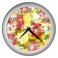 Flower Power Wall Clocks (silver)