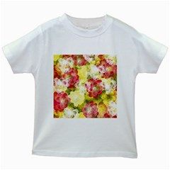 Flower Power Kids White T Shirts