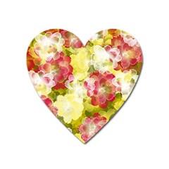 Flower Power Heart Magnet