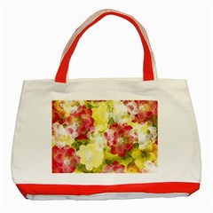 Flower Power Classic Tote Bag (red)