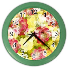 Flower Power Color Wall Clocks