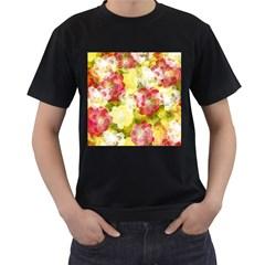 Flower Power Men s T Shirt (black)