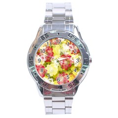Flower Power Stainless Steel Analogue Watch