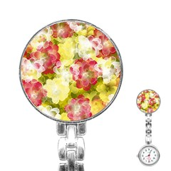 Flower Power Stainless Steel Nurses Watch
