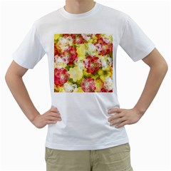 Flower Power Men s T Shirt (white)