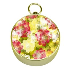 Flower Power Gold Compasses