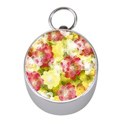 Flower Power Mini Silver Compasses