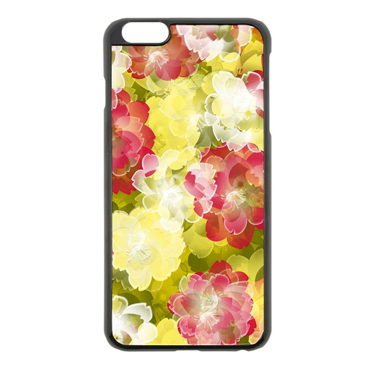 Flower Power Apple iPhone 6 Plus/6S Plus Black Enamel Case