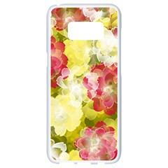 Flower Power Samsung Galaxy S8 White Seamless Case
