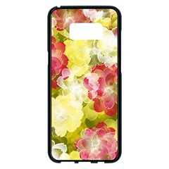 Flower Power Samsung Galaxy S8 Plus Black Seamless Case