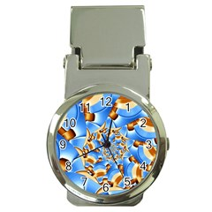 Gold Blue Bubbles Spiral Money Clip Watches