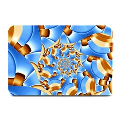 Gold Blue Bubbles Spiral Plate Mats