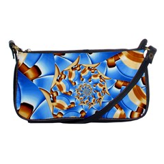 Gold Blue Bubbles Spiral Shoulder Clutch Bags