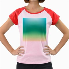 Sealife Green Gradient Women s Cap Sleeve T Shirt
