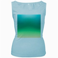 Sealife Green Gradient Women s Baby Blue Tank Top