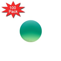 Sealife Green Gradient 1  Mini Buttons (100 Pack)