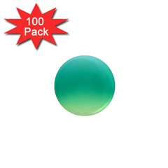 Sealife Green Gradient 1  Mini Magnets (100 Pack)