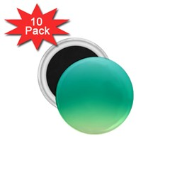 Sealife Green Gradient 1 75  Magnets (10 Pack)