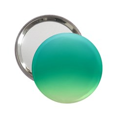 Sealife Green Gradient 2 25  Handbag Mirrors
