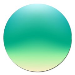 Sealife Green Gradient Magnet 5  (round)