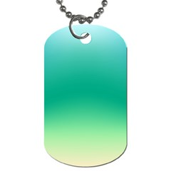Sealife Green Gradient Dog Tag (one Side)