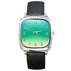 Sealife Green Gradient Square Metal Watch