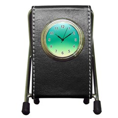 Sealife Green Gradient Pen Holder Desk Clocks