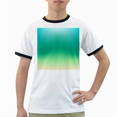Sealife Green Gradient Ringer T Shirts