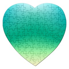 Sealife Green Gradient Jigsaw Puzzle (heart)