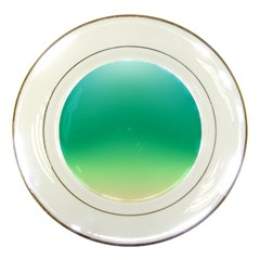 Sealife Green Gradient Porcelain Plates