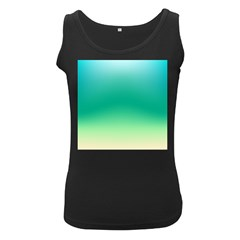 Sealife Green Gradient Women s Black Tank Top