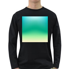 Sealife Green Gradient Long Sleeve Dark T Shirts