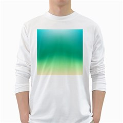 Sealife Green Gradient White Long Sleeve T Shirts