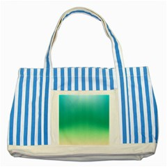 Sealife Green Gradient Striped Blue Tote Bag