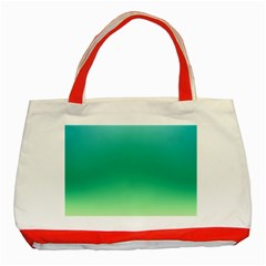 Sealife Green Gradient Classic Tote Bag (red)