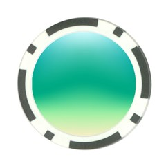 Sealife Green Gradient Poker Chip Card Guard