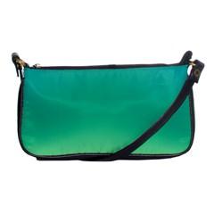 Sealife Green Gradient Shoulder Clutch Bags