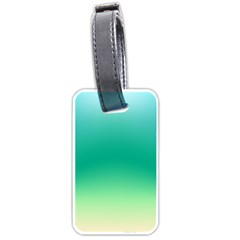 Sealife Green Gradient Luggage Tags (two Sides)