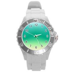 Sealife Green Gradient Round Plastic Sport Watch (l)