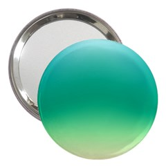 Sealife Green Gradient 3  Handbag Mirrors
