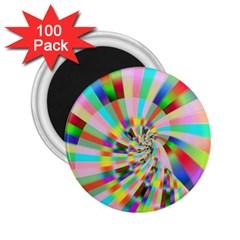 Irritation Funny Crazy Stripes Spiral 2 25  Magnets (100 Pack)
