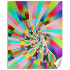 Irritation Funny Crazy Stripes Spiral Canvas 11  X 14