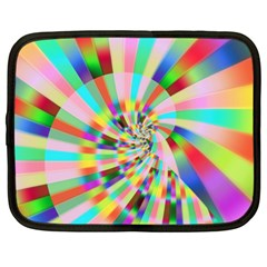 Irritation Funny Crazy Stripes Spiral Netbook Case (large)