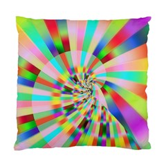 Irritation Funny Crazy Stripes Spiral Standard Cushion Case (one Side)