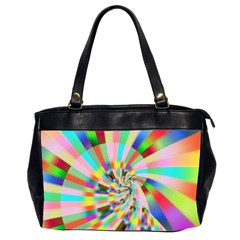 Irritation Funny Crazy Stripes Spiral Office Handbags (2 Sides)